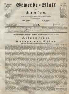 Gewerbe-Blatt für Sachsen. Jahrg. VI, 2. Juli, nr 51.