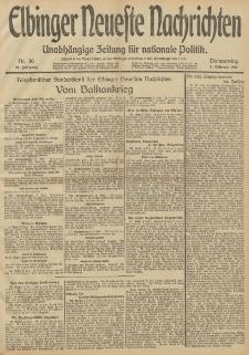 Elbinger Neueste Nachrichten, Nr. 36 Donnerstag 6 Februar 1913 65. Jahrgang
