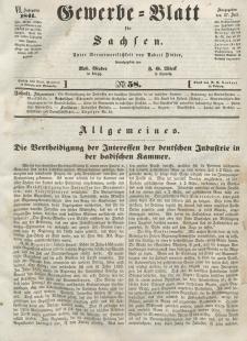 Gewerbe-Blatt für Sachsen. Jahrg. VI, 27. Juli, nr 58.
