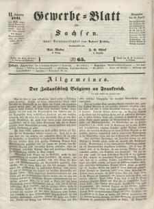 Gewerbe-Blatt für Sachsen. Jahrg. VI, 20. August, nr 65.