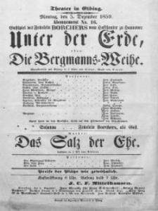 Unter der Erde, oder: Die Bergmanns-Weihe - Karl Elmar