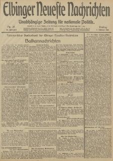 Elbinger Neueste Nachrichten, Nr. 37 Freitag 7 Februar 1913 65. Jahrgang
