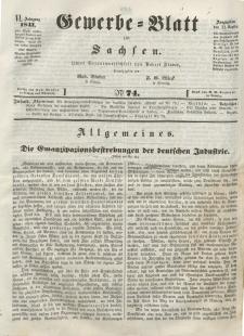Gewerbe-Blatt für Sachsen. Jahrg. VI, 21. September, nr 74.