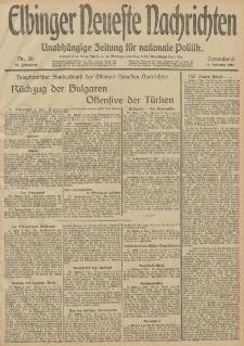 Elbinger Neueste Nachrichten, Nr. 38 Sonnabend 8 Februar 1913 65. Jahrgang