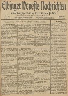 Elbinger Neueste Nachrichten, Nr. 39 Sonntag 9 Februar 1913 65. Jahrgang