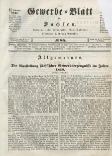 Gewerbe-Blatt für Sachsen. Jahrg. VI, 30. Oktober, nr 85.