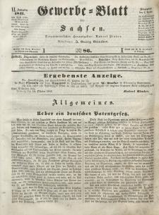 Gewerbe-Blatt für Sachsen. Jahrg. VI, 2. November, nr 86.