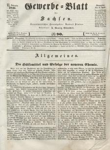 Gewerbe-Blatt für Sachsen. Jahrg. VI, 16. November, nr 90.