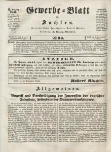 Gewerbe-Blatt für Sachsen. Jahrg. VI, 30. November, nr 94.