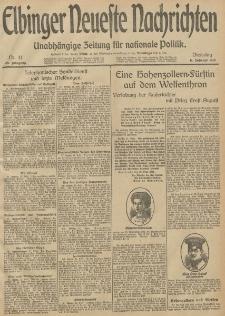 Elbinger Neueste Nachrichten, Nr. 41 Dienstag 11 Februar 1913 65. Jahrgang