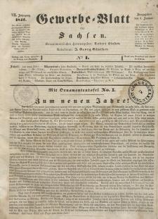 Gewerbe-Blatt für Sachsen. Jahrg. VII, 4. Januar, nr 1.