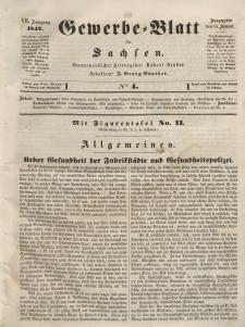 Gewerbe-Blatt für Sachsen. Jahrg. VII, 14. Januar, nr 4.