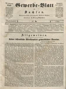 Gewerbe-Blatt für Sachsen. Jahrg. VII, 18. Januar, nr 5.