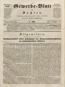 Gewerbe-Blatt für Sachsen. Jahrg. VII, 15. Februar, nr 13.