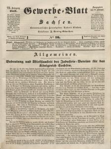 Gewerbe-Blatt für Sachsen. Jahrg. VII, 25. Februar, nr 16.
