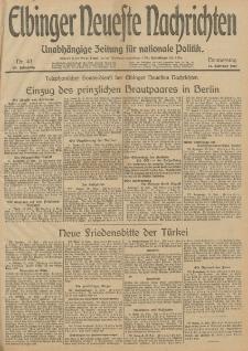 Elbinger Neueste Nachrichten, Nr. 43 Donnerstag 13 Februar 1913 65. Jahrgang