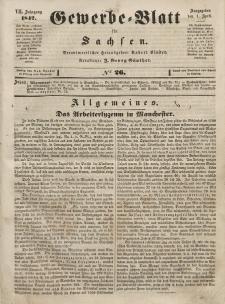 Gewerbe-Blatt für Sachsen. Jahrg. VII, 1. April, nr 26.