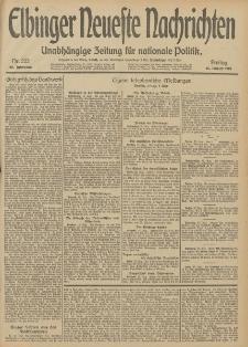 Elbinger Neueste Nachrichten, Nr. 222 Freitag 15 August 1913 65. Jahrgang