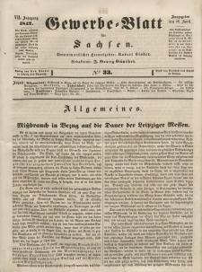 Gewerbe-Blatt für Sachsen. Jahrg. VII, 26. April, nr 33.