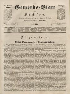 Gewerbe-Blatt für Sachsen. Jahrg. VII, 24. Mai, nr 41.