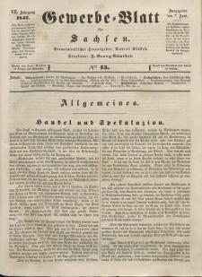 Gewerbe-Blatt für Sachsen. Jahrg. VII, 7. Juni, nr 45.