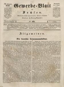 Gewerbe-Blatt für Sachsen. Jahrg. VII, 14. Juni, nr 47.