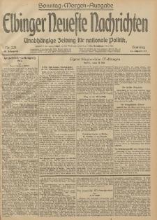 Elbinger Neueste Nachrichten, Nr. 224 Sonntag 17 August 1913 65. Jahrgang