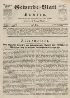 Gewerbe-Blatt für Sachsen. Jahrg. VII, 2. Juni, nr 61.