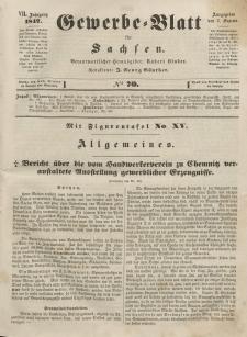 Gewerbe-Blatt für Sachsen. Jahrg. VII, 2. September, nr 70.