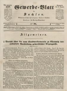 Gewerbe-Blatt für Sachsen. Jahrg. VII, 30. September, nr 78.
