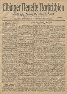 Elbinger Neueste Nachrichten, Nr. 227 Mittwoch 20 August 1913 65. Jahrgang