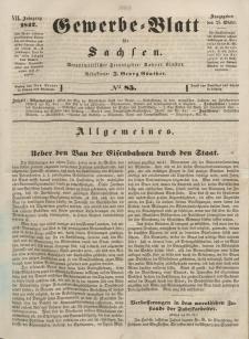 Gewerbe-Blatt für Sachsen. Jahrg. VII, 25. Oktober, nr 85.