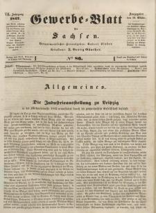 Gewerbe-Blatt für Sachsen. Jahrg. VII, 28. Oktober, nr 86.