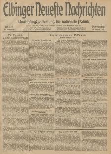 Elbinger Neueste Nachrichten, Nr. 228 Donnerstag 21 August 1913 65. Jahrgang