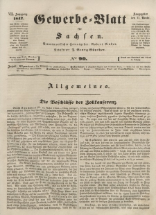 Gewerbe-Blatt für Sachsen. Jahrg. VII, 11. November, nr 90.