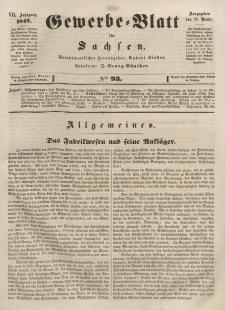 Gewerbe-Blatt für Sachsen. Jahrg. VII, 23. November, nr 93.