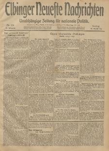 Elbinger Neueste Nachrichten, Nr. 229 Freitag 22 August 1913 65. Jahrgang