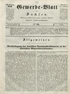 Gewerbe-Blatt für Sachsen. Jahrg. VIII, 5. September, nr 71.