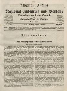 Gewerbe-Blatt für Sachsen. Jahrg. VIII, Freitag, 3. Oktober, nr 80.