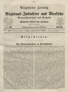 Gewerbe-Blatt für Sachsen. Jahrg. VIII, Freitag, 13. Oktober, nr 82.