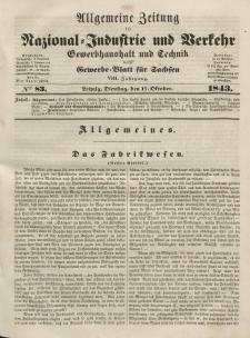Gewerbe-Blatt für Sachsen. Jahrg. VIII, Dienstag, 17. Oktober, nr 83.