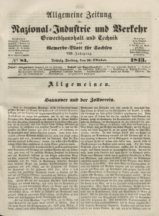 Gewerbe-Blatt für Sachsen. Jahrg. VIII, Freitag, 20. Oktober, nr 84.