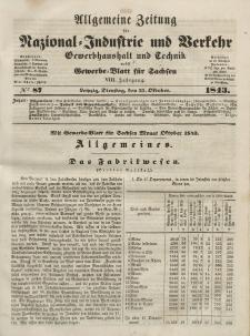 Gewerbe-Blatt für Sachsen. Jahrg. VIII, Dienstag, 31. Oktober, nr 87.