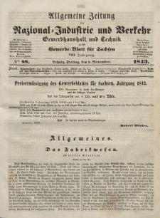 Gewerbe-Blatt für Sachsen. Jahrg. VIII, Freitag, 3. November, nr 88.