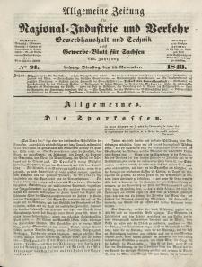 Gewerbe-Blatt für Sachsen. Jahrg. VIII, Dienstag, 14. November, nr 91.