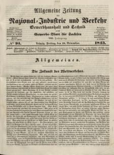 Gewerbe-Blatt für Sachsen. Jahrg. VIII, Freitag, 24. November, nr 94.