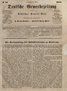 Deutsche Gewerbezeitung und Sächsisches Gewerbeblatt, Jahrg. X. Freitag, 4. Juli, nr 53.