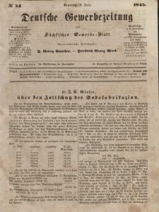 Deutsche Gewerbezeitung und Sächsisches Gewerbeblatt, Jahrg. X. Dienstag, 8. Juli, nr 54.