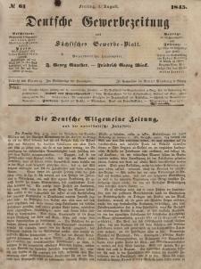 Deutsche Gewerbezeitung und Sächsisches Gewerbeblatt, Jahrg. X. Freitag, 1. August, nr 61.