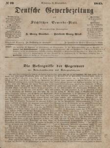 Deutsche Gewerbezeitung und Sächsisches Gewerbeblatt, Jahrg. X. Dienstag, 2. September, nr 70.